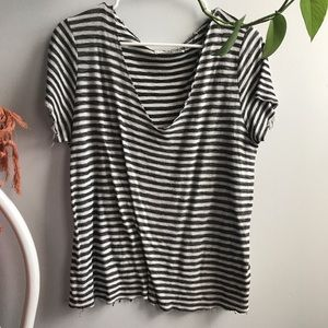 Urban Outfitters Textured V Neck Tee